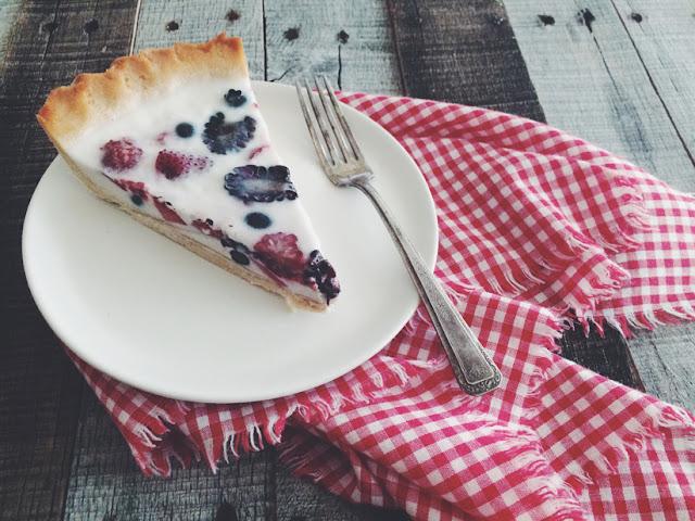 Berry Panna Cotta Pie (AIP & Paleo)
