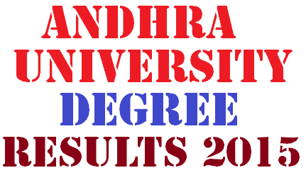 Andhra University AU Degree Results 2015