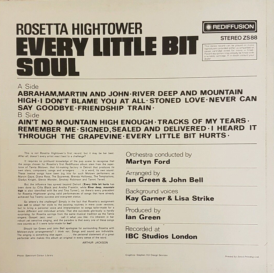 Rosetta Hightower Every Little Bit Soul
