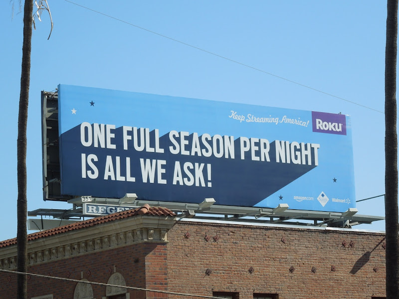 One full season Roku billboard