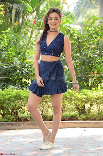 Seerat Kapoor Stunning Cute Beauty in Mini Skirt  Polka Dop Choli Top ~  Exclusive Galleries 073.jpg