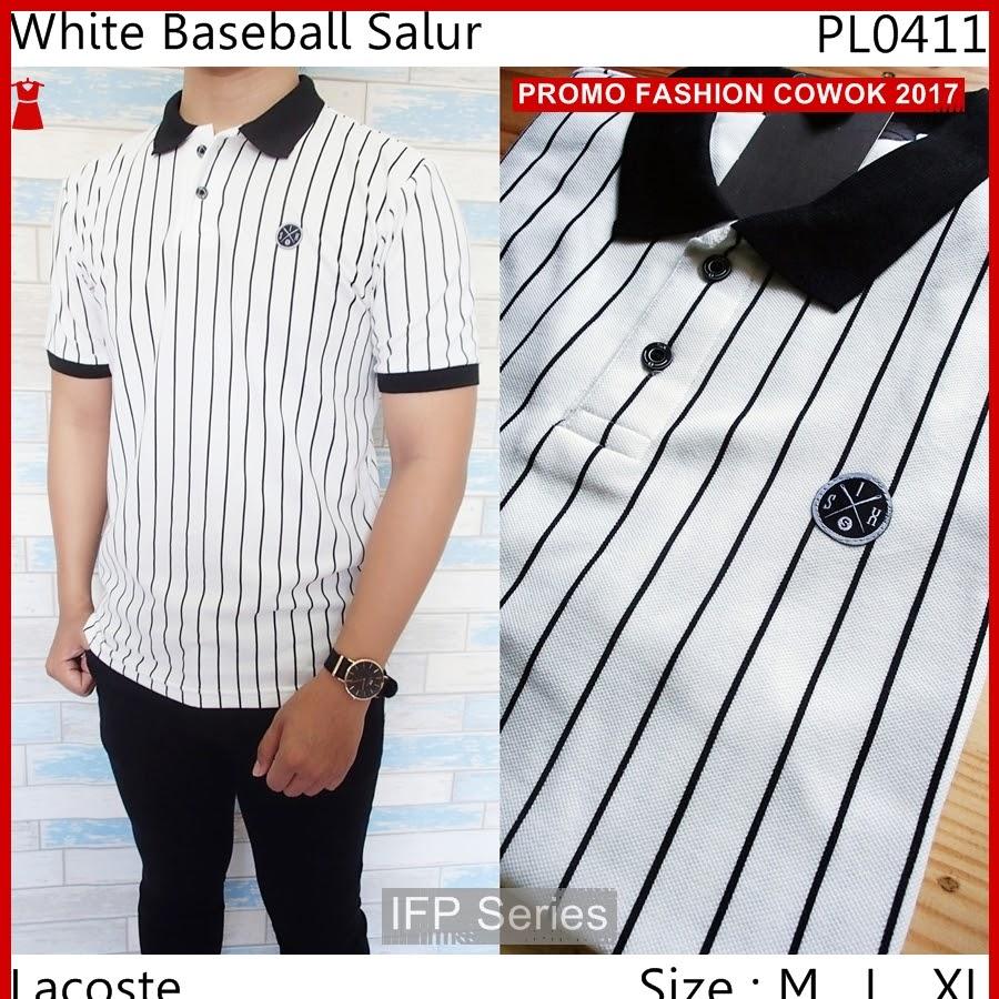 BIMFGP039 Baseball Kaos Polo Fashion Pria PROMO