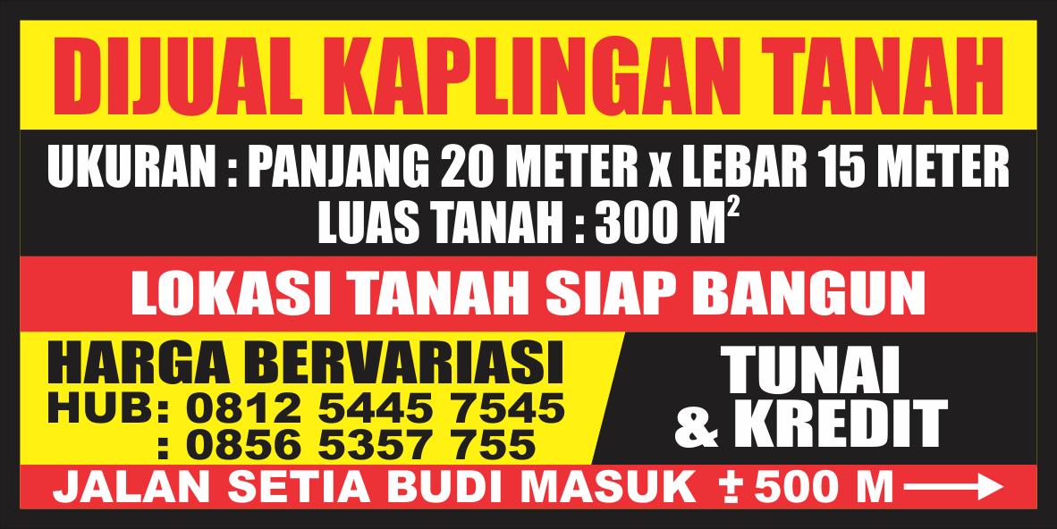 Contoh Spanduk Penjualan Tanah - gambar contoh banners