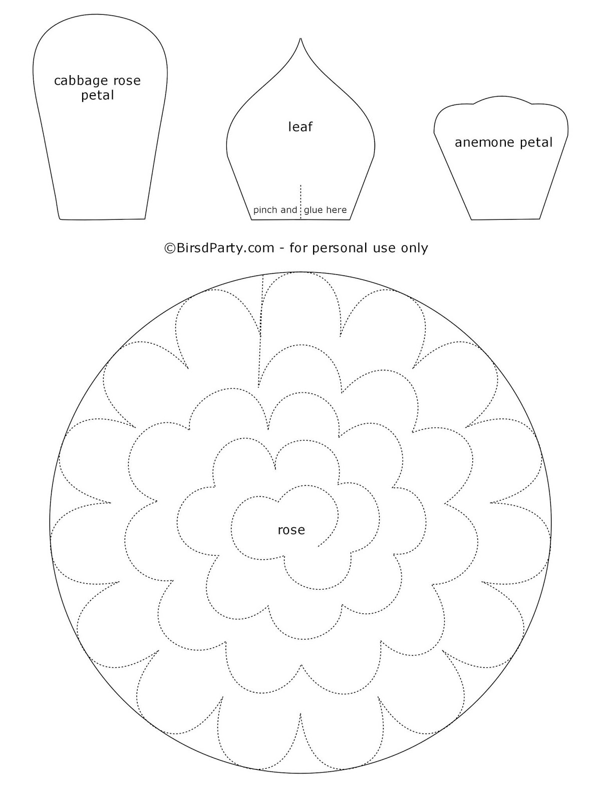 It's just a picture of Handy Felt Flower Template Printable