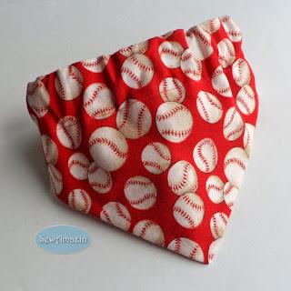 Baseball Dog Bandana, Red
