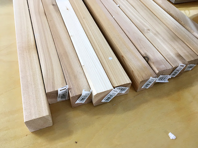 spindles Menards western red cedar precut wood