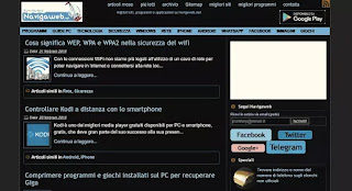 siti web tema notte
