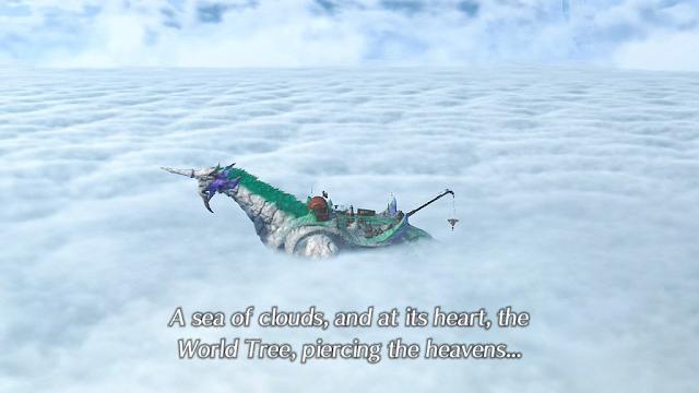 Xenoblade Chronicles 2 XC2 Azurda Gramps Cloud Sea intro introduction World Tree titan