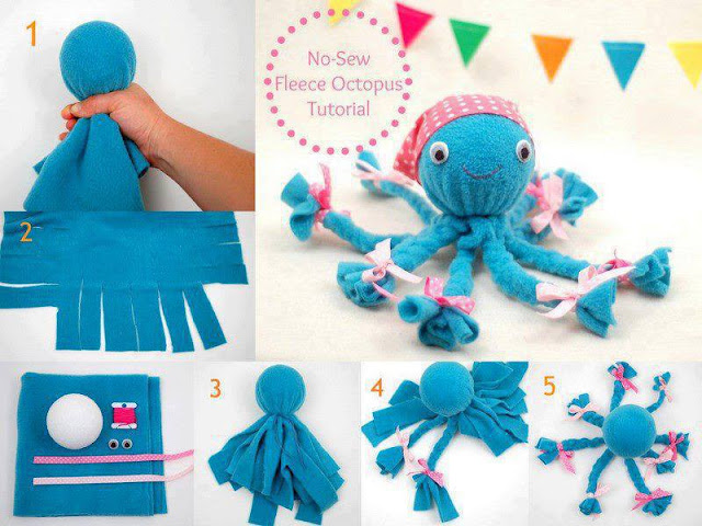 DIY Octopus Toy from waste cloth, DIY kids toys, School Projects, Inexpensive DIY ideas, Best out of waste ideas,