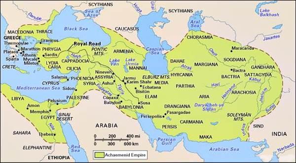 Egipto como parte del Imperio Achaemenid (persa), 6to-5to siglo bc.
