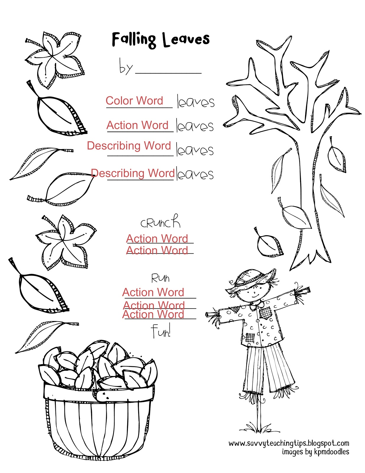 Fall Leaves Art And Poem And A Freebie