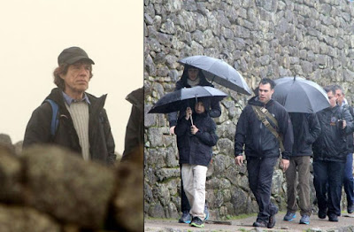 Mick Jagger, Machu Picchu Hollywood, celebrities Machu Picchu