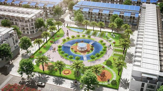 Cảnh quan nội khu dự án Đồng Kỵ Lovera Garden