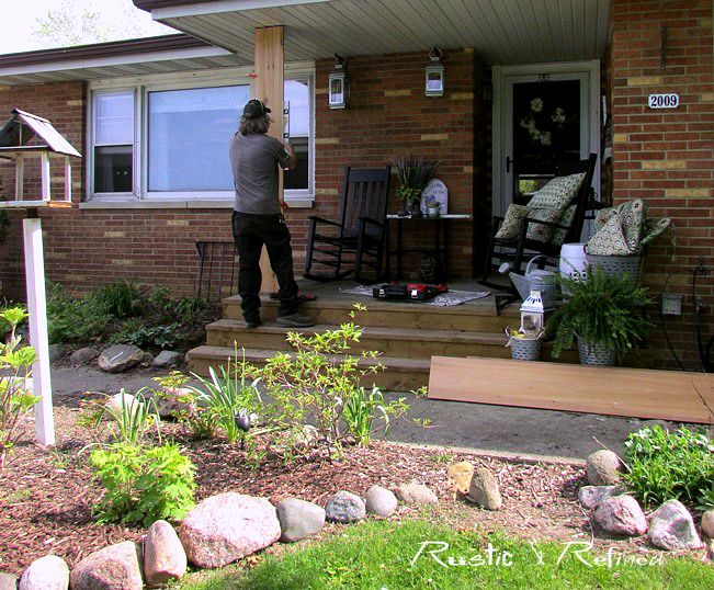 Creating a ranch style front porch