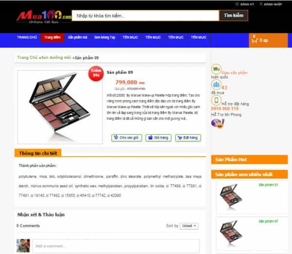 download template blogspot bán hàng miễn phí
