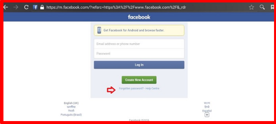 Facebook Login Mobile 2017
