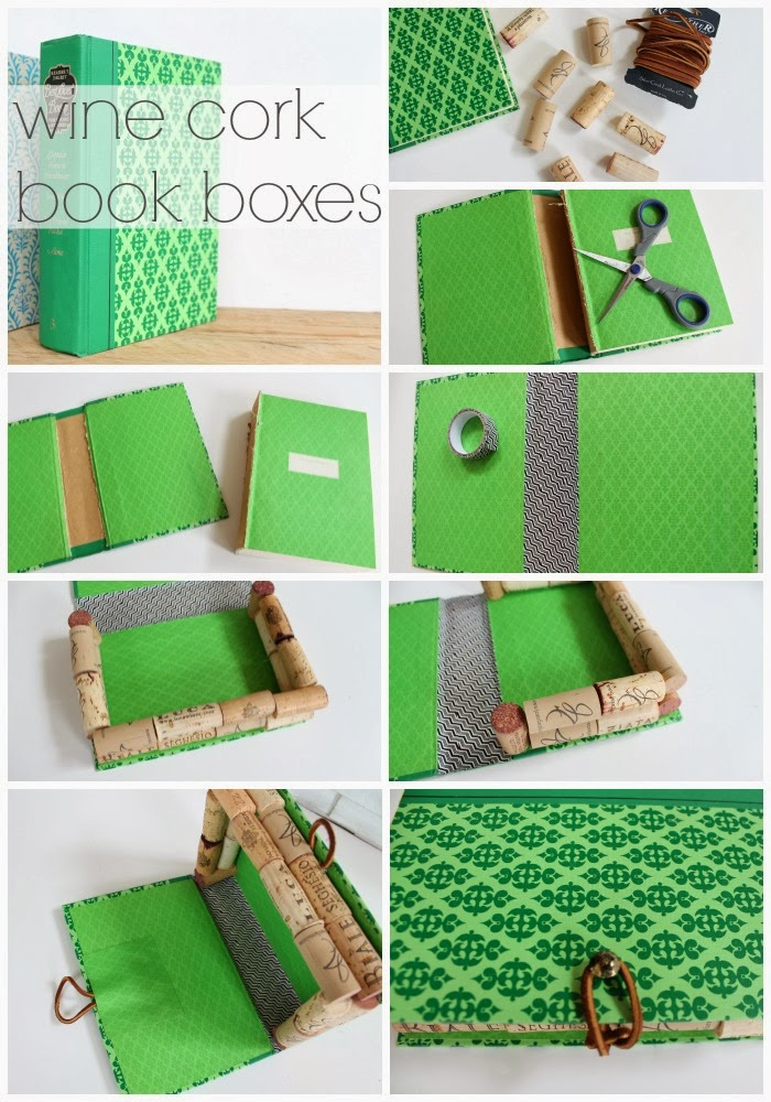 How To Make A Book Box : Recycled wine cork book boxes infarrantly creative