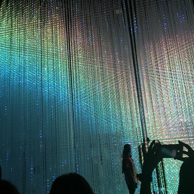 お台場のデジタルアートミュージアムでの光の祭典の様子です。