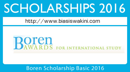 Boren Scholarship Basics 2016