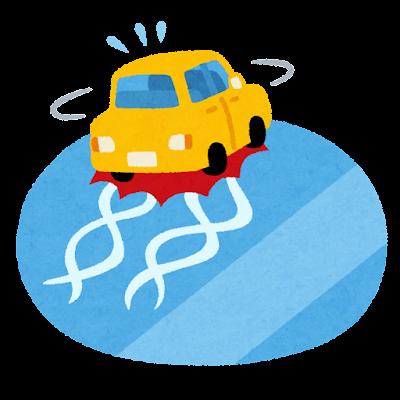 路面凍結のイラスト
