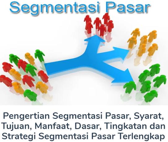 Membahas Materi Pengertian Segmentasi Pasar Beserta Syarat, Tujuan, Manfaat, Dasar, Tingkatan dan Strategi Segmentasi Pasar Terlengkap