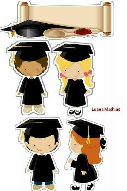 Graduation Party Free Printable Cake Toppers.