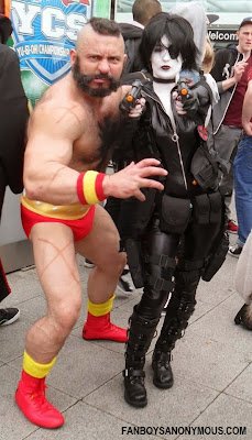 Marvel Domino sexy cosplay Streetfighter Zangief