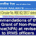 7th Pay Commission – Grant of Non-Practising Allowance(NPA) at revised rates to IRMS officers