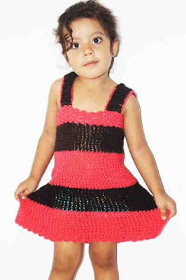 vestido en crochet Fulares portabebés y tejidos a crochet kangutingo