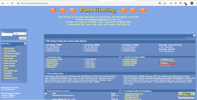 Cara Daftar Akun Pelanggan Di Situs Plasa Hosting Dengan Mudah - Cintanetworking.com