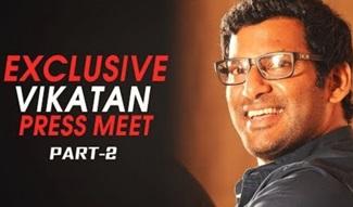 What I Like About Sarathkumar That He Is Varalakshmi's Dad! Chill & Cool Vishal | Vikatan Press Meet