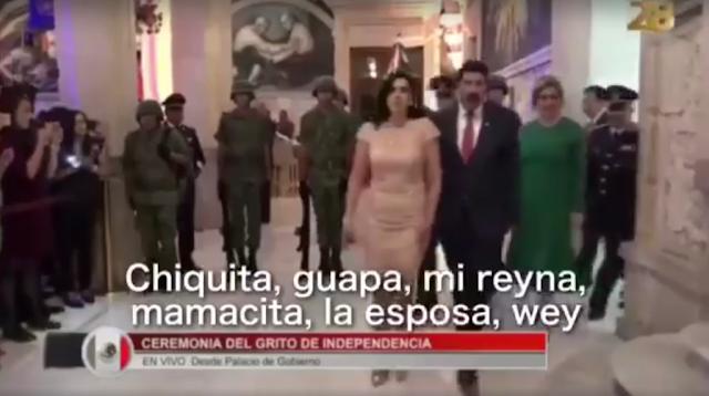 VIDEO; Dejan micrófono abierto e insultan a esposa del gobernador de Chihuahua durante transmisión en vivo
