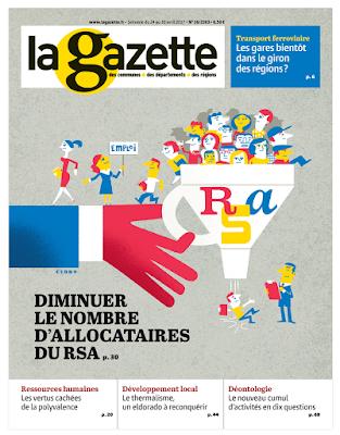 Clod illustration couverture Gazette des Communes RSA