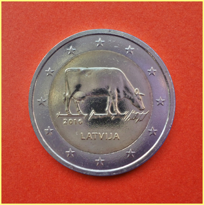2 Euros Letonia Vaca 2016