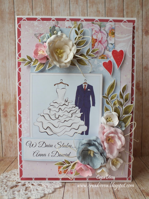 Mąż i żona – kartka ślubna / Bride and Groom – wedding card