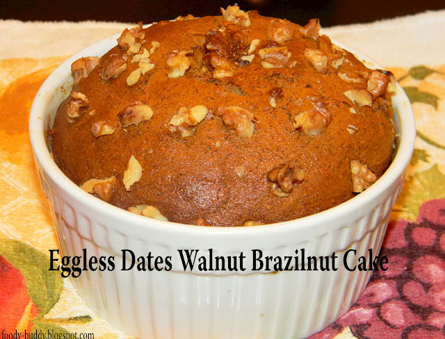 eggless dates walnut cake