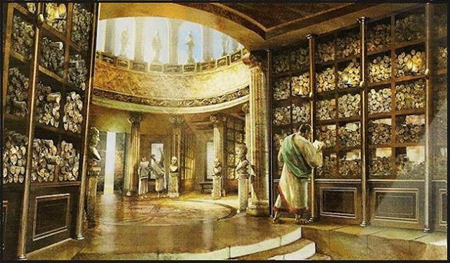 Bibliotecas de la antig edad la casa vieja de repolido blaz - La casa alexandria ...
