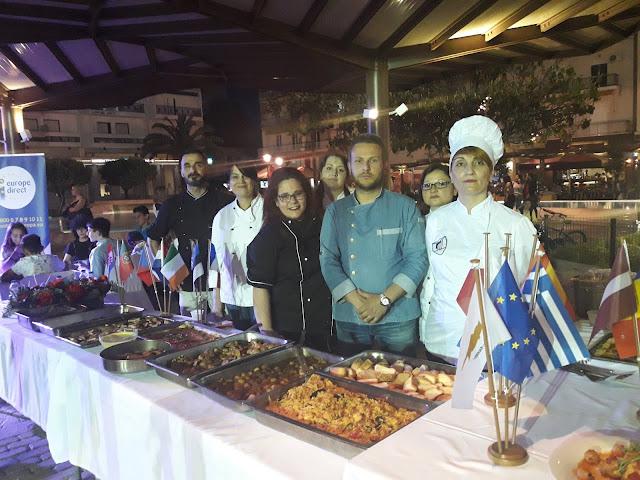 Εντυπωσίασε η παρουσίαση της Τουριστικής σχολής με τις Ευρωπαϊκές Γεύσεις