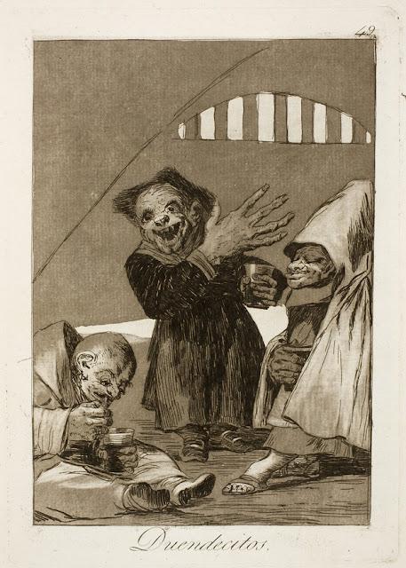 Goya, Los Caprichos - Duendecitos / Μικρά τελώνια / Little goblins