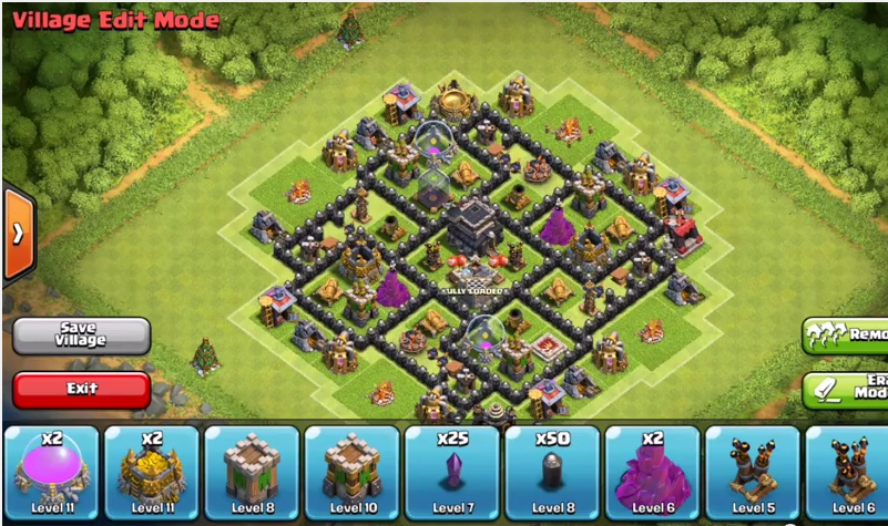 Clash Of Clans Town Hall 7 Defense Coc Th7 Best Trophy Base Layout Defense Strategy Trinotorianto Blog