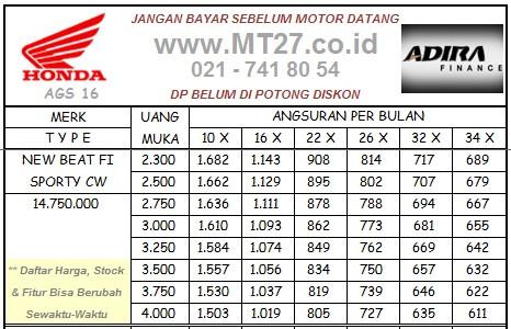 Adira Honda Beat ESP CW