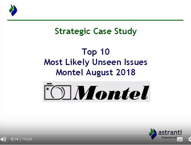Top 10 Issues video for MCS August 2018 - CIMA Management Case Study - Montel