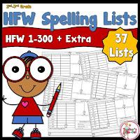 HFW Spelling Lists