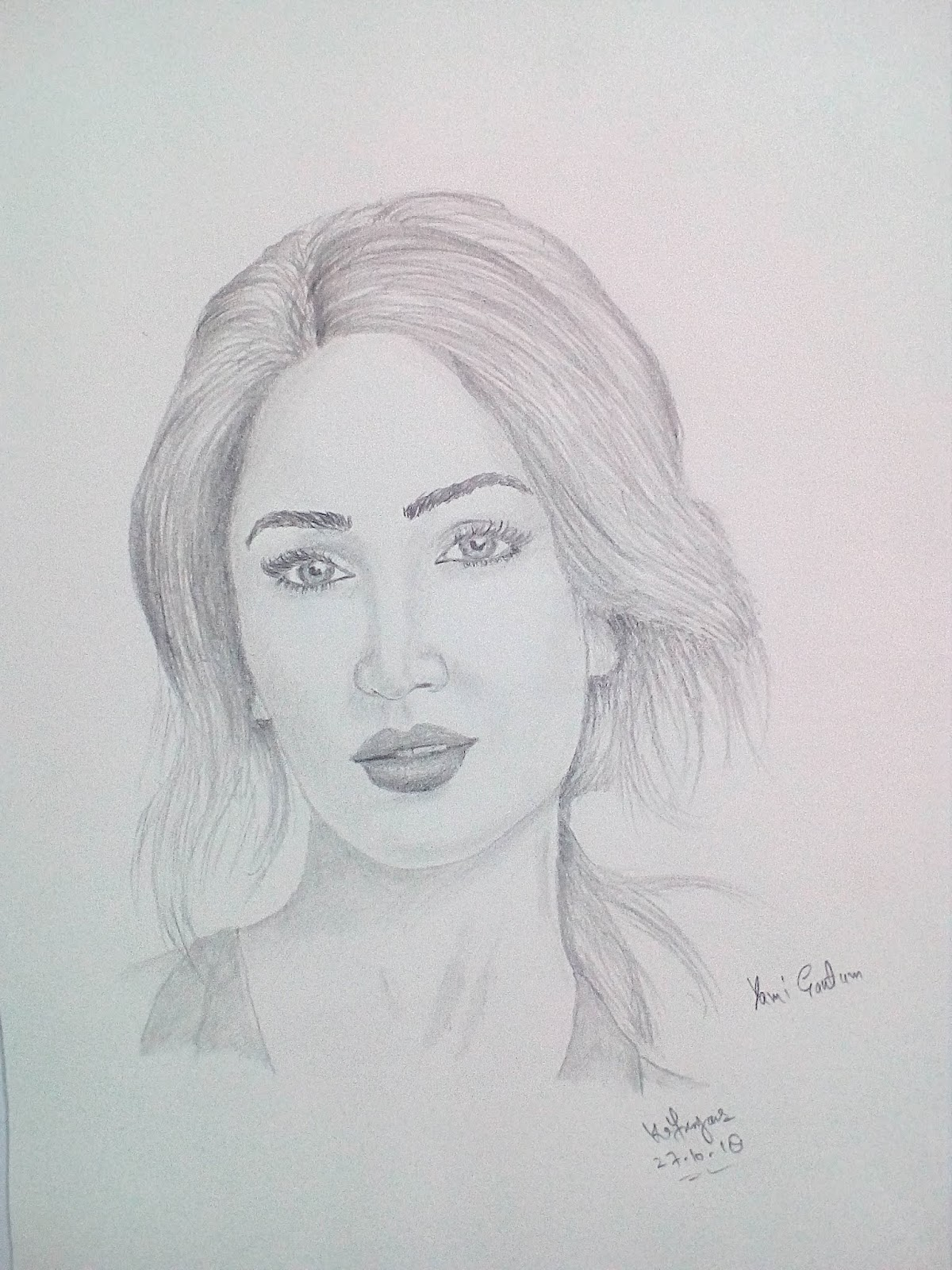 Yami gautum and emilia clarke pencil sketches by kafasyaar