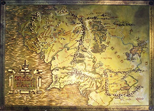 The Lord Of The Rings / The Hobbit - Map Of Middle Earth