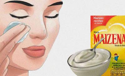 Masque de fécule de maïs pour rajeunir la peau