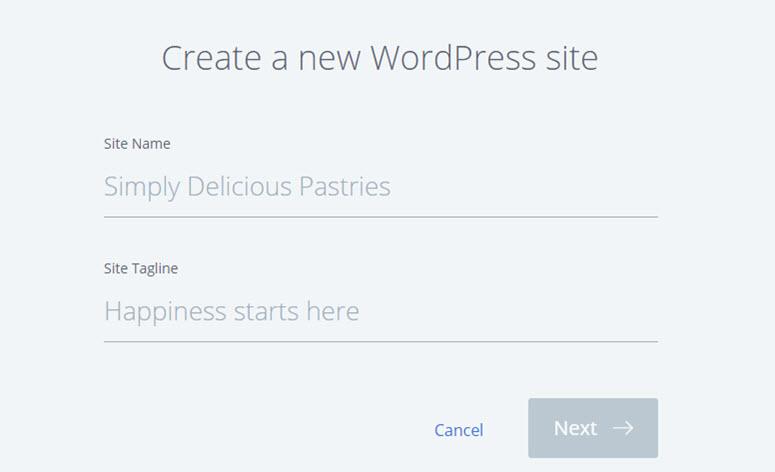 buat situs web wordpress baru