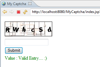 Creating Captcha using Java