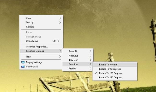 sửa lỗi màn hình desktop bị ngược
