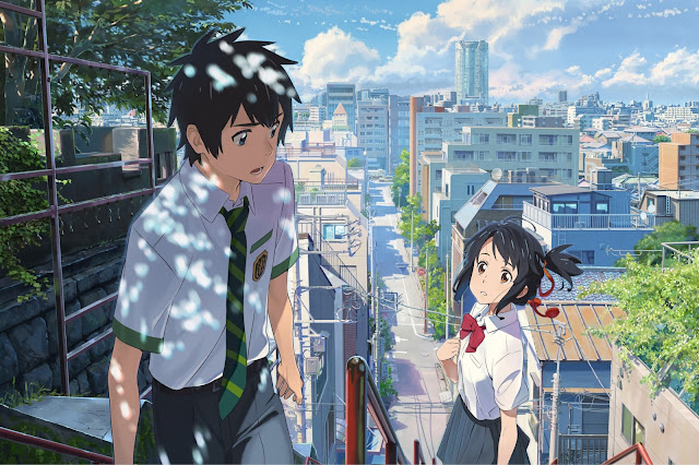 "Two teens trade places in ""Your Name."""